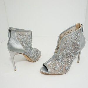 🆕BCBGMAXAZARIA Deedie Grey High Heels Sandals